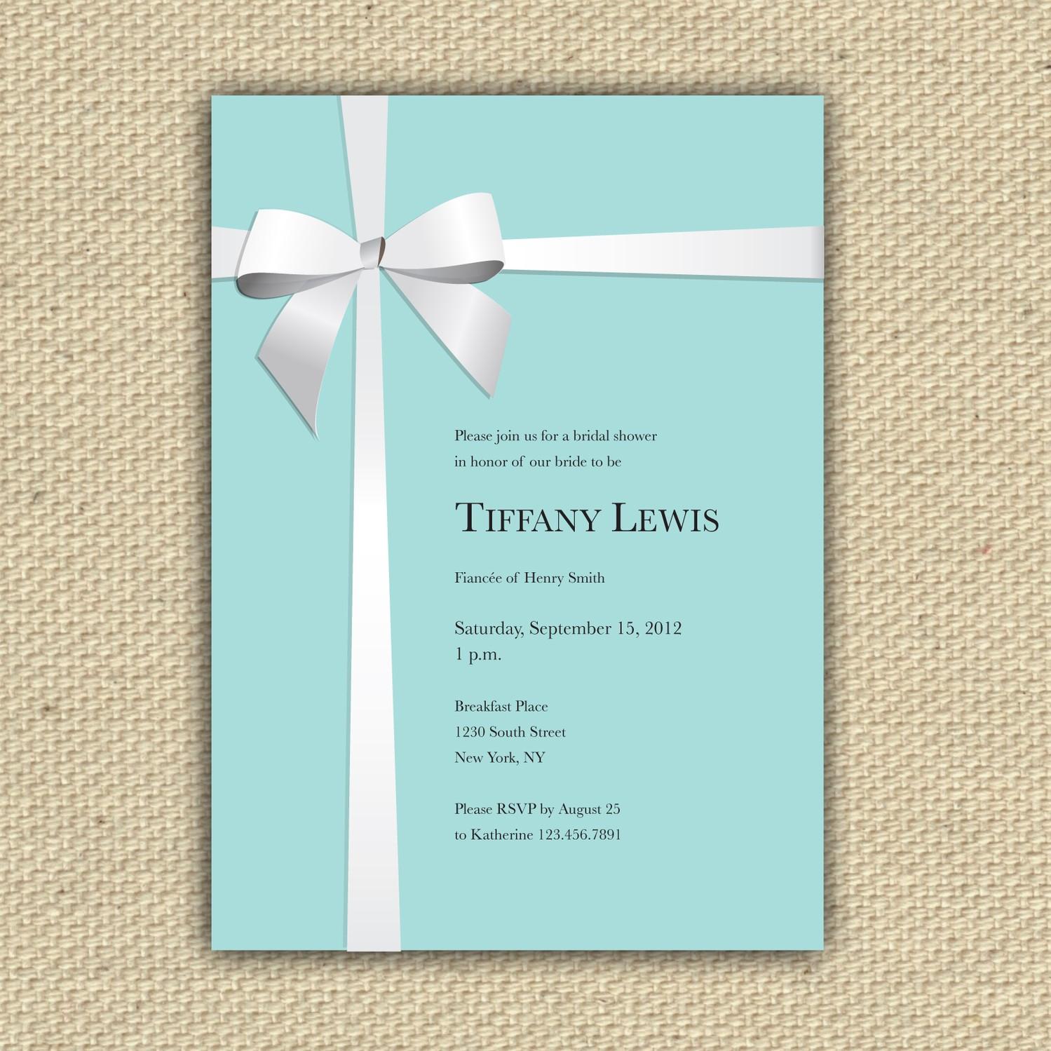 Tiffany And Co Invitations Reserved For Adrianna Tiffany Co